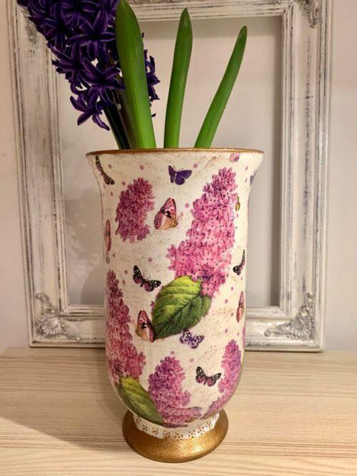 Vaza din sticla handmade