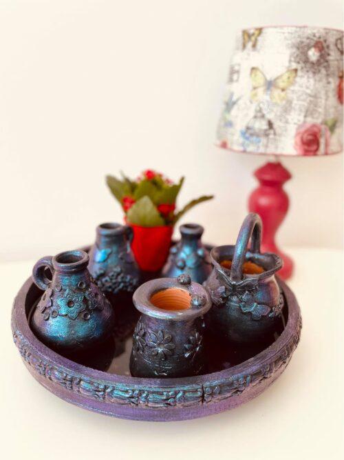 Set din ceramica decorat manual